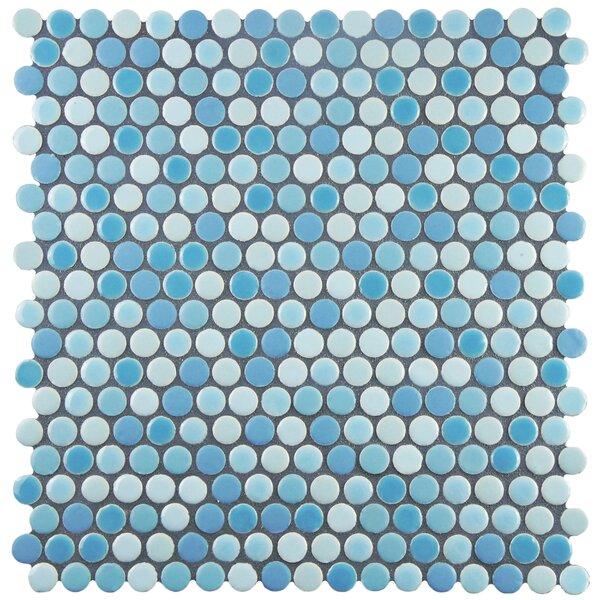 Astraea 0.62 x 0.62 Porcelain Mosaic Tile in Oceano by EliteTile