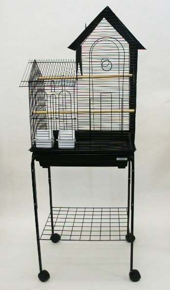 Villa Top Small Bird Cage with Stand and 2 Feeder Doors by YML