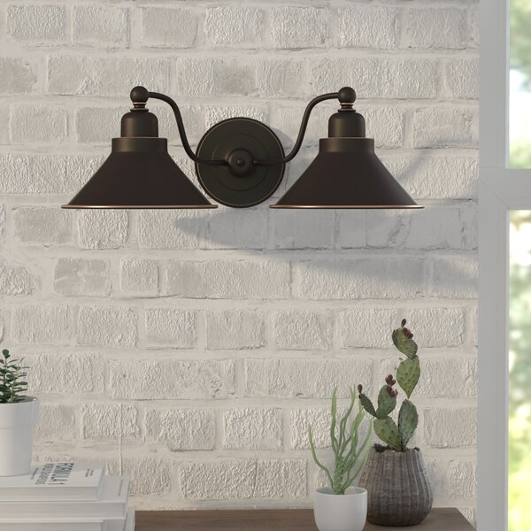 Schaff  2-Light Wall Sconce in Mission Dust Bronze by Trent Austin Design