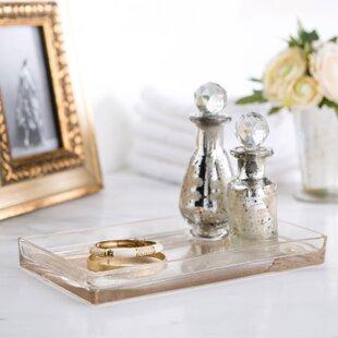 Mercury Glass Bathroom Accessories. Mercury Glass Vanity Bathroom Accessory Tray