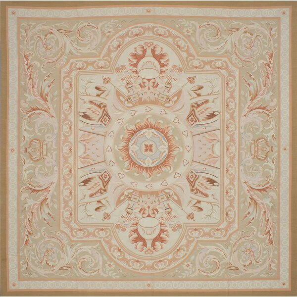 One-of-a-Kind Lovelle Hand-Woven Ivory Area Rug by Isabelline