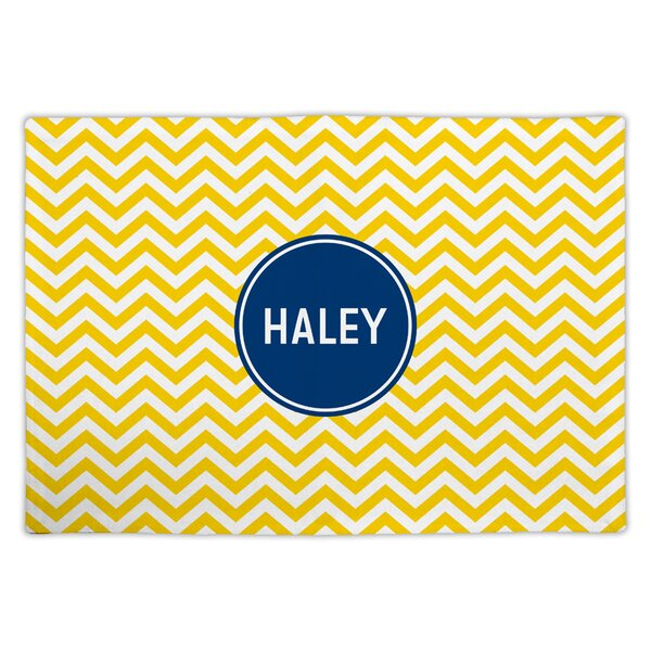 Chevron Block Personalized Fabric Placemat by Boatman Geller