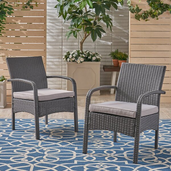 Grissett Patio Chair With Cushion (Set Of 2) By Gracie Oaks by Gracie Oaks Design