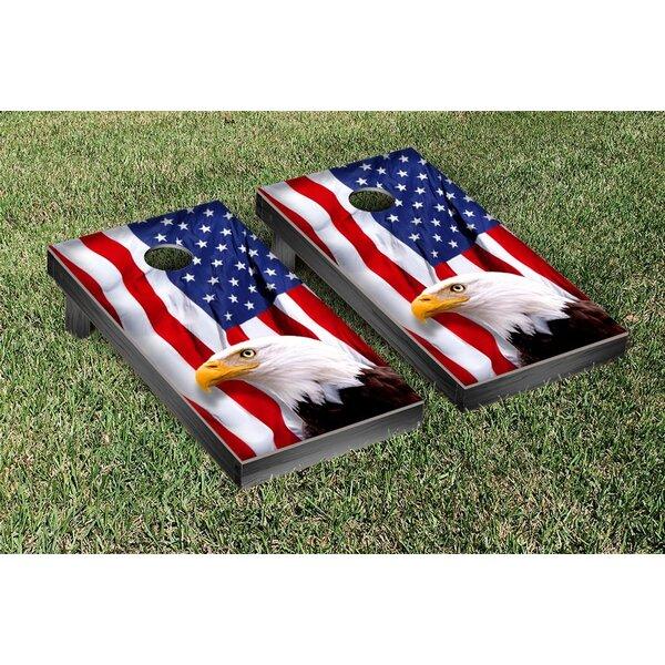 American Eagle USA No Mountain Version Cornhole Game Set by Victory Tailgate