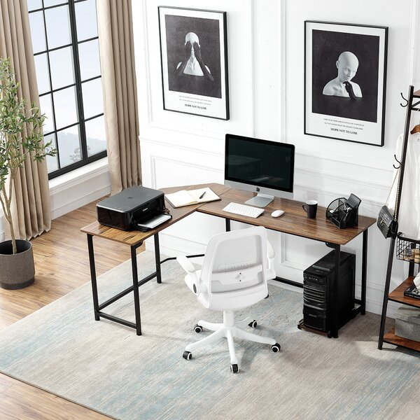 Reversible L-Shape Gaming Desk and Chair Set