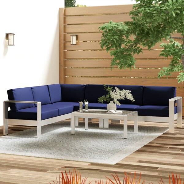 Coline 5 Piece Sectional Set with Cushions by Orren Ellis