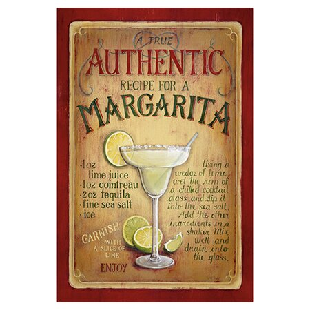 Authentic Margarita By Lisa Audit Vintage Advertisement On Canvas By Icanvas.