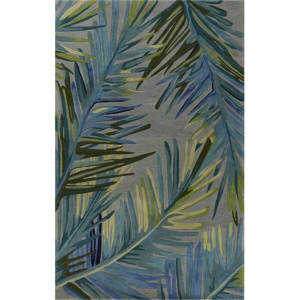 Remington Montego Hand-Tufted Wool Blue/Gray Area Rug by Bay Isle Home
