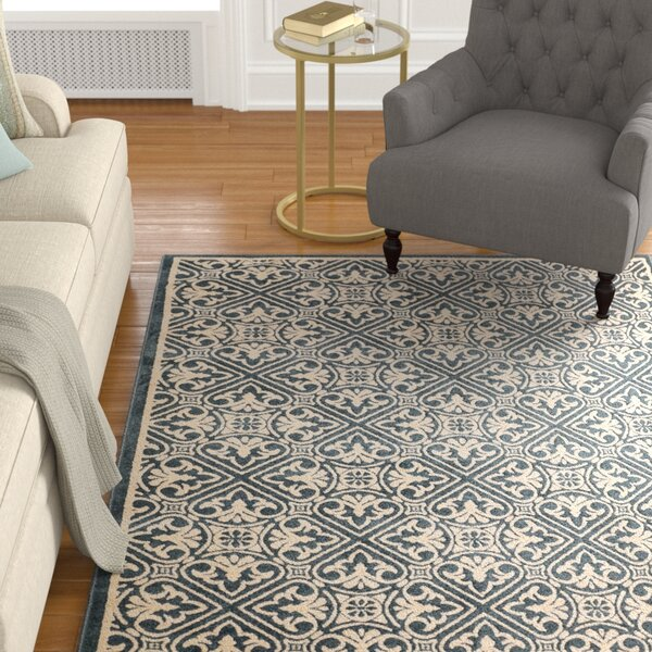 Altagore Blue/Ivory Indoor/Outdoor Area Rug by Alcott Hill