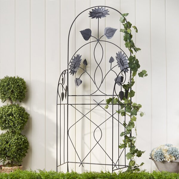 Flowered Trellis Panels (Set of 2) by Birch Lane™