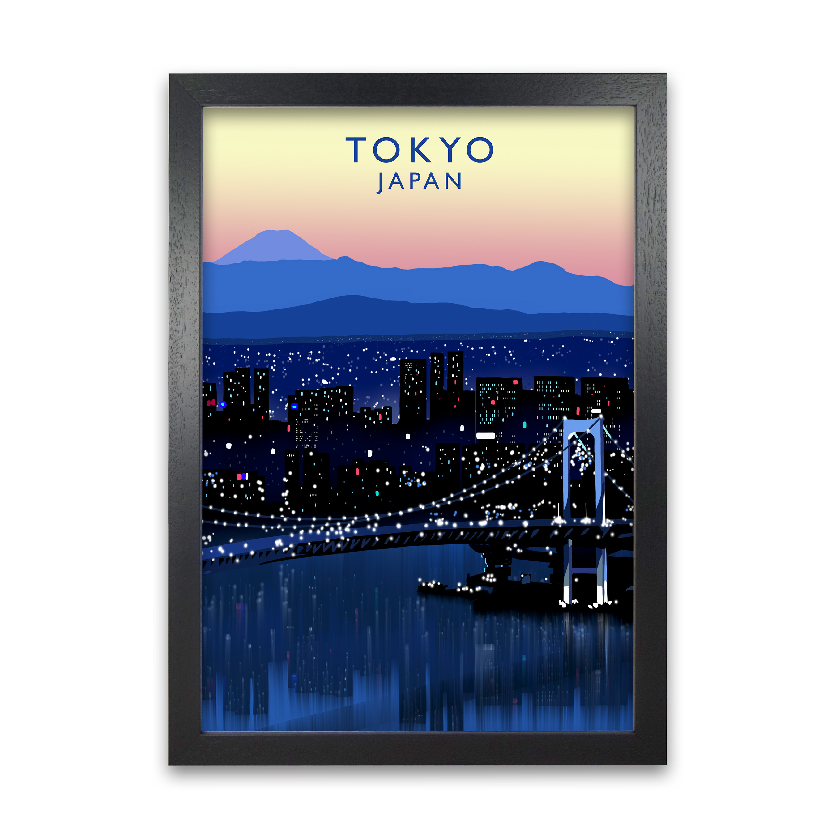 17 Stories Tokyo Japan By Richard O Neill Picture Frame Graphic Art Print On Paper Wayfair Co Uk