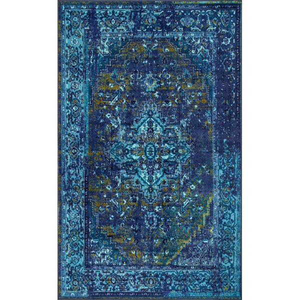 Mcchesney Blue Area Rug By World Menagerie.