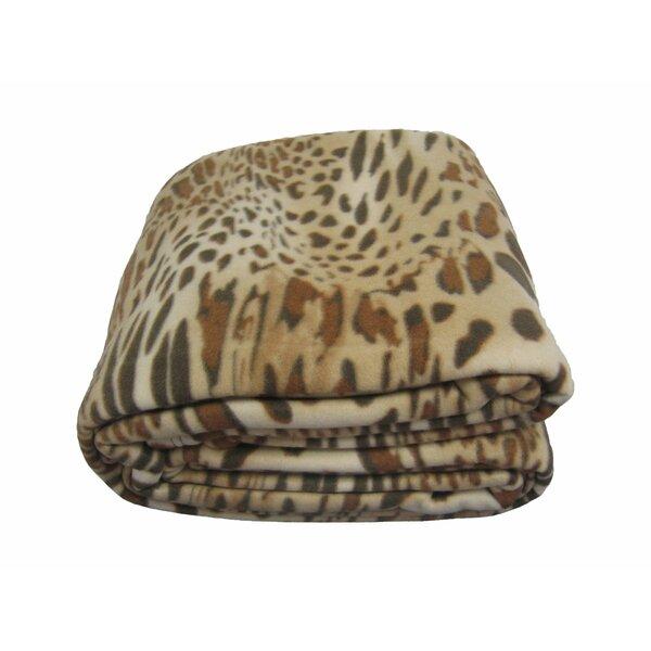 Leopard/Cheetah Polar Blanket by DaDa Bedding