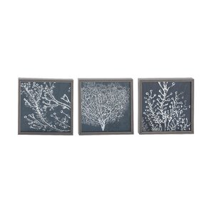 Wallace 3 Piece Framed Graphic Art Set
