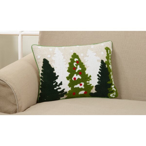 Nevin Festive Christmas Tree Lumbar Pillow by The Holiday Aisle