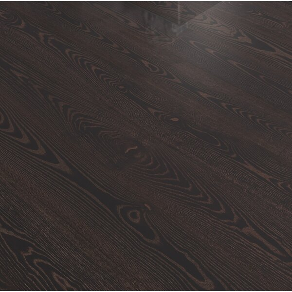 Shine 7-13/32 Engineered Ash Hardwood Flooring in Black Copper by Kahrs