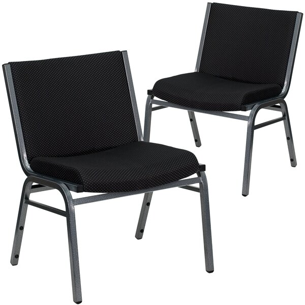 Laduke Armless Fabric Stacking Chair (Set of 2) by Symple Stuff