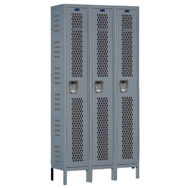 Heavy Duty 1 Tier 3 Wide Gym and Locker Room Locker by Hallowell
