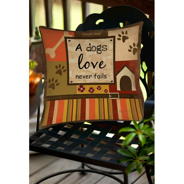 Love Never Fails Indoor/Outdoor Throw Pillow by Manual Woodworkers & Weavers