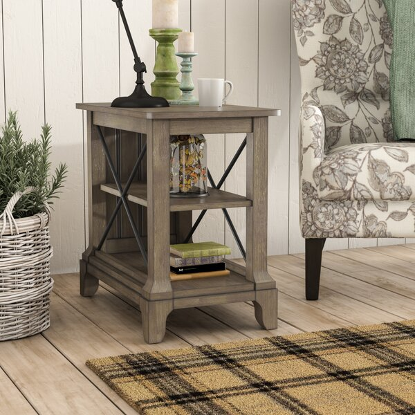Busti End Table With Storage By Three Posts