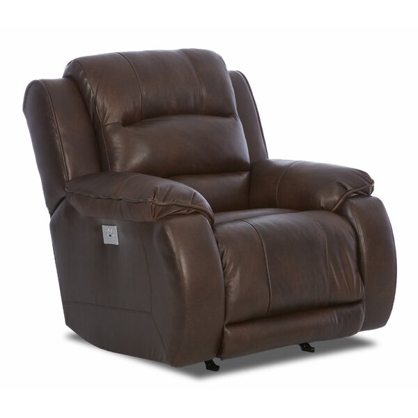 Baton Rouge Power Rocking Recliner with Headrest and Lumbar Support by Darby Home Co