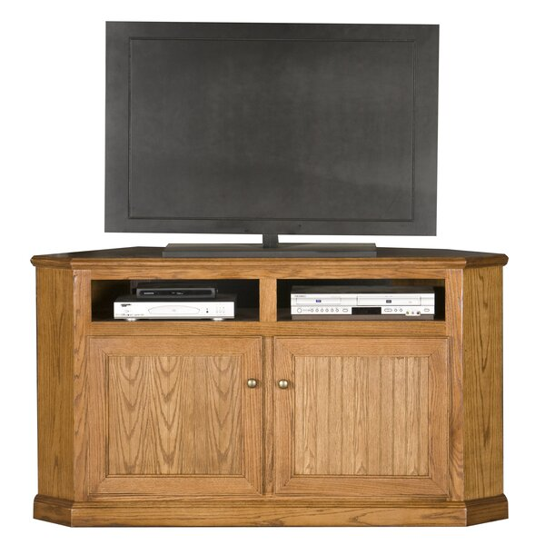 Didier Solid Wood Corner TV Stand For TVs Up To 65