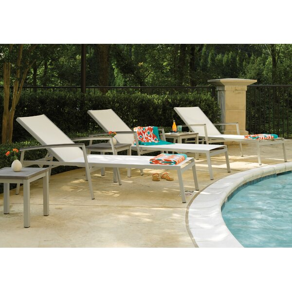 Caravelle Reclining Chaise Lounge Set with Table by Brayden Studio