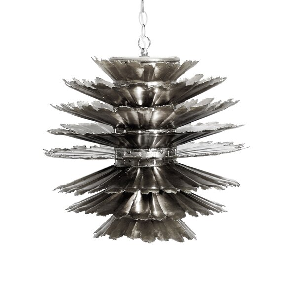 Iron Pierced 1-Light Unique / Statement Tiered Chandelier by Worlds Away Worlds Away