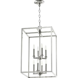 Compare prices Cuboid Entry 8-Light Square/Rectangle Chandelier By Quorum
