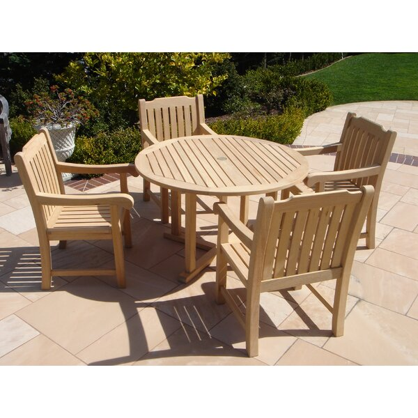 Bartol 5 Piece Dining Set by Rosecliff Heights