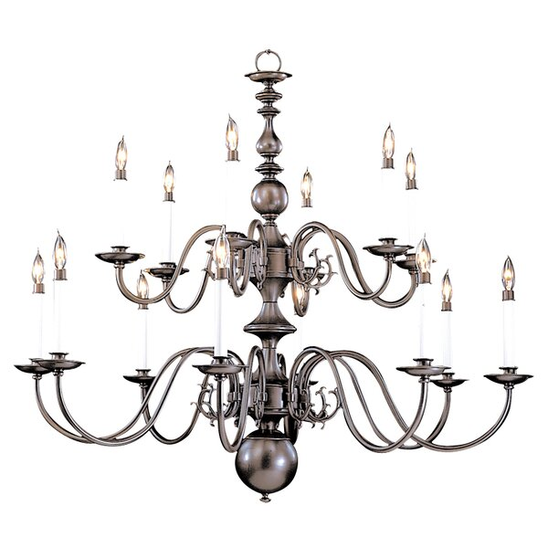 Jovan 14-Light Candle Style Tiered Chandelier by Darby Home Co Darby Home Co