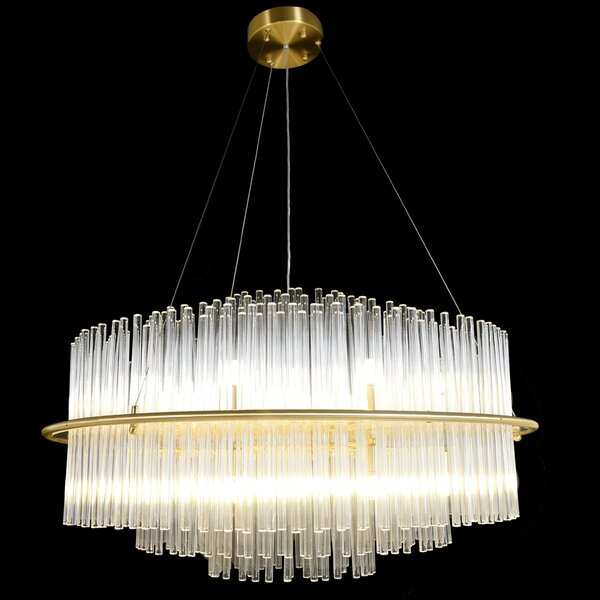Shorewood 20 - Light Unique / Statement Wagon Wheel LED Chandelier by Everly Quinn Everly Quinn