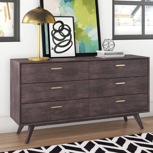 Dalessio Wooden 6 Drawer Double Dresser by Brayden Studio
