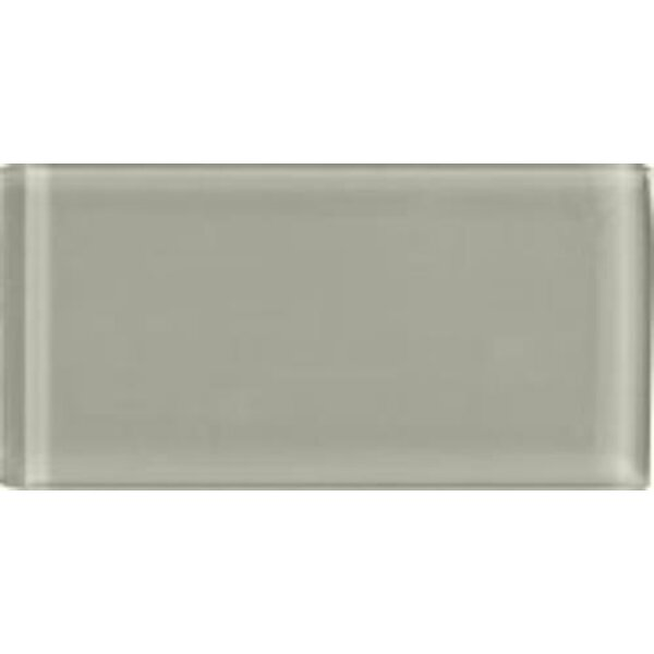 Shimmer 3 x 6 Glass Subway Tile in Moon by Interceramic