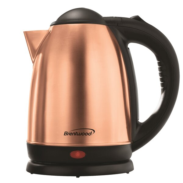 1.7 Qt. Cordless Stainless Steel Electric Tea Kettle by Brentwood Appliances
