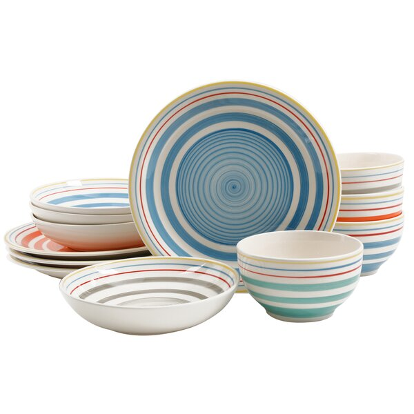 Moody 12 Piece Dinnerware Set, Service for 4 by Gibson Home