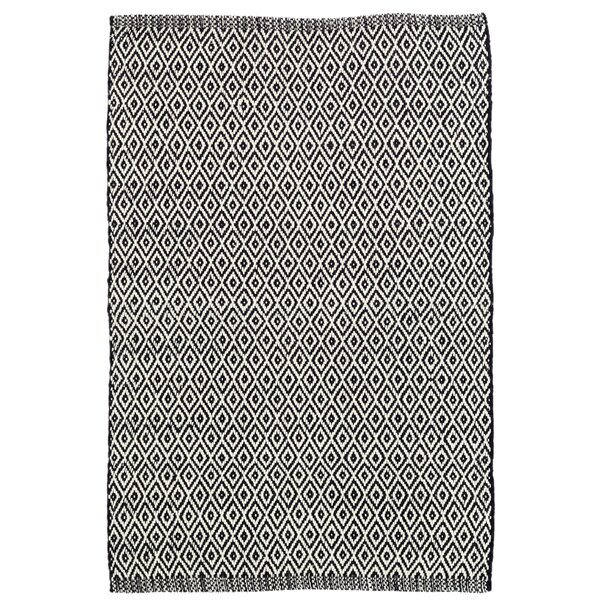 Crystal Black/White Indoor/Outdoor Area Rug by Dash and Albert Rugs