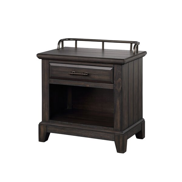 Bellamy Lane 2 Drawer Open Espresso Nightstand by Bernards