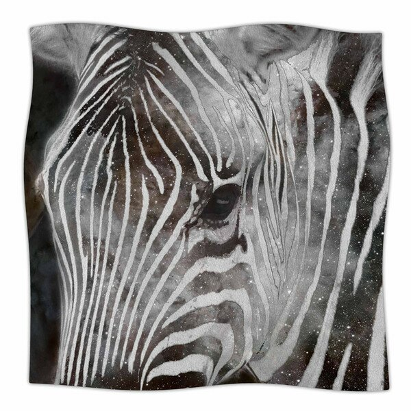 Space Zebra by Suzanne Carter Fleece Blanket by East Urban Home