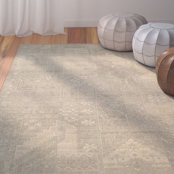 Ardale Wool Gray Area Rug by Bungalow Rose