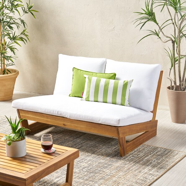 Pekalongan Outdoor Loveseat With Cushions By Ebern Designs