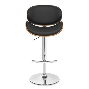 Compare prices Brennan Adjustable Height Swivel Bar Stool by Wade Logan