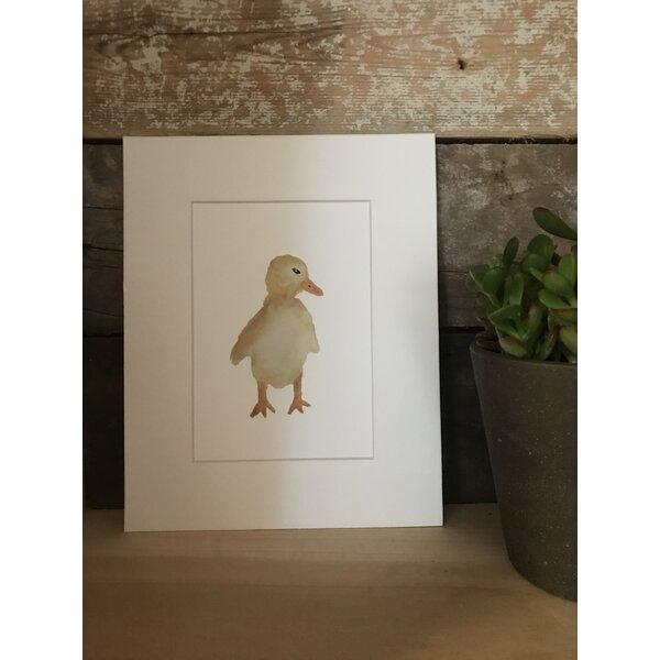 Oldbury Watercolor Duck Framed Paper Print by Harriet Bee