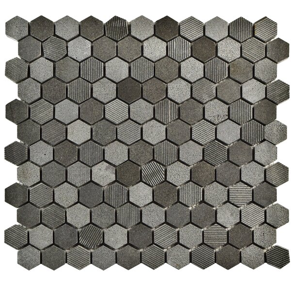 Formation 1 x 1 Natural Stone Mosaic Tile in Black by EliteTile