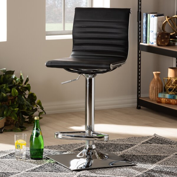 Kamden Adjustable Height Swivel Bar Stool by Orren Ellis