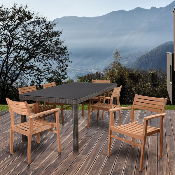 Persephone International Home Outdoor 7 Piece Dining Set by Longshore Tides