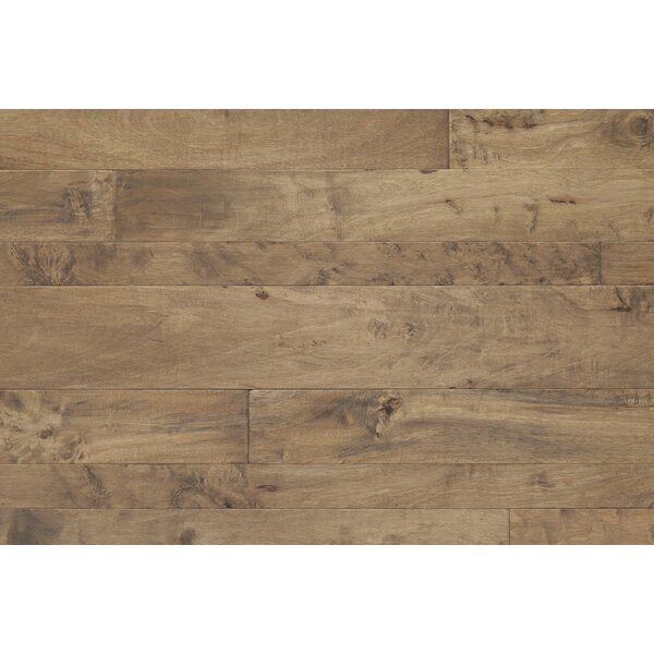 Antigua Random Width Engineered Shiranga Hardwood Flooring in Sediment by Mannington
