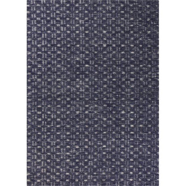 Arroyo Hand-Woven Navy Area Rug by Ebern Designs
