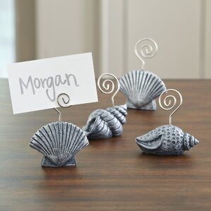 seashell place card holders set of 4