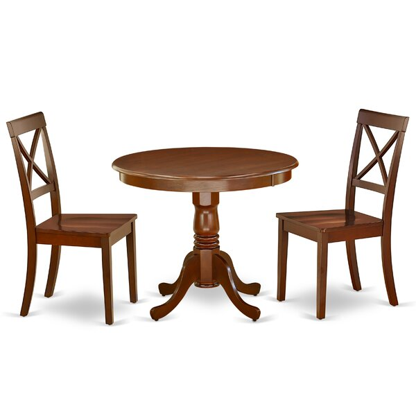 Nannette 3 Piece Solid Wood Dining Set By Alcott Hill